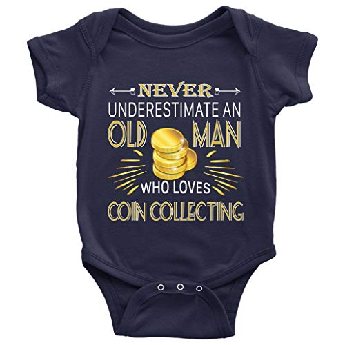 Coin Collecting Baby Bodysuit, I Am A Coin Collector Baby Bodysuit (6M, Baby Bodysuit - Navy) ()