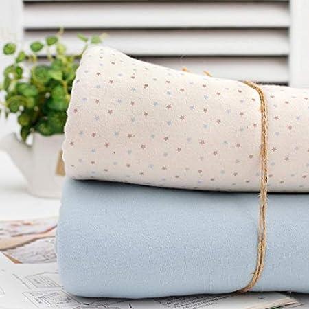 Tela de punto de algodón orgánico de Star por The Yard 180 cm de ancho MR What Star Blue Solid: Amazon.es: Hogar
