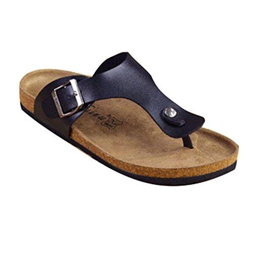 Mules Tong 35 Lige Chaussures De Pour Plage footbed Sandales Unisexe Antidrapantes Low Bain D't Noir En 45 Hommes Hibote chaussures 4wFdxqT4