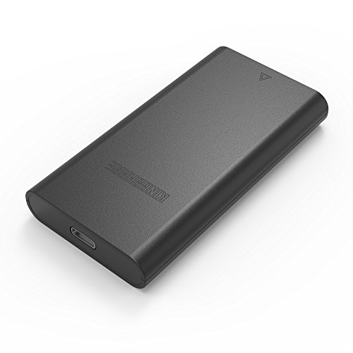 SATA Portable Case KINGSHARE SATA to USB Type C 3.1 External SSD Enclosure Slide Case for mSATA SSD hard shell ABS ()