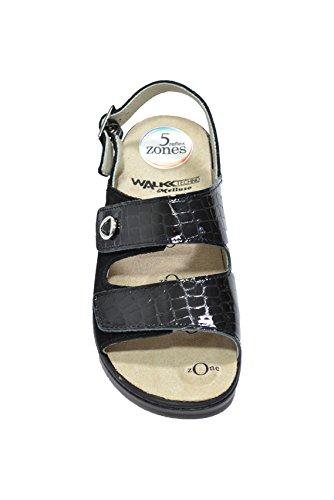 Melluso Sandali zeppa nero scarpe donna plantare estraibile Q60203