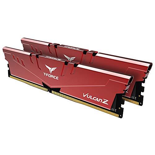TEAMGROUP T-Force Vulcan Z DDR4 16GB Kit (2 x 8GB) 2666MHz (PC4 21300) CL18 Desktop Memory Module Ram - Red - TLZRD416G2666HC18HDC01