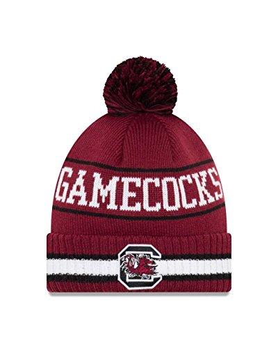 Gamecock South Carolina University Logo (New Era South Carolina Gamecocks College Vintage Select Knit Pom Beanie - Crimson, One Size)