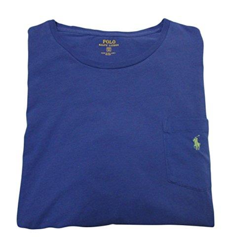 Polo Ralph Lauren Mens' Big and Tall T-Shirt Jersey Crew Neck Pocket T-Shirt (2XB, Liberty) Ralph Lauren Jersey Polo Shirt
