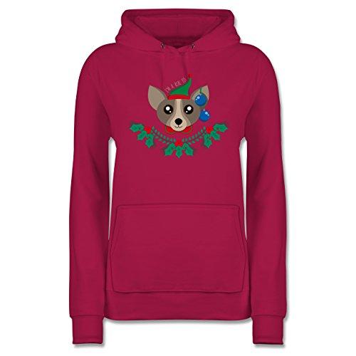 Weihnachten amp; Silvester Chihuahua WeihnachtsElfe Damen Hoodie ...