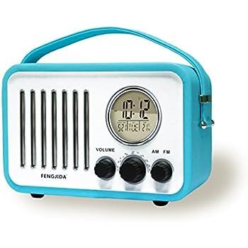Portable Wood Retro Clock Radio Alarm Clocks Retro Portable Radio,Clock  Radios For Bedroom Or