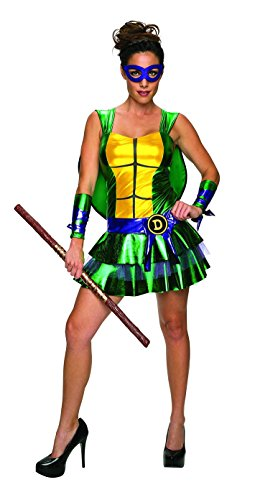 Secret Wishes Women's Teenage Mutant Ninja Turtles Donatello Costume Dress, Multi, Small (Ninja Turtle Women Costume)