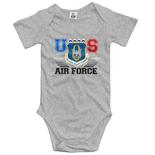 - US Air Force Reserve Command Baby Onesies Bodysuit Unisex Short-Sleeve Toddler Clothes Cute Gray