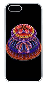 IMARTCASE iPhone 5S Case, Trippy Mushrooms Polycarbonate Back Case for Apple iPhone 5s/5 White