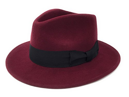 ff1c4635e29 Cotswold Country Hats Mens Handmade 100% Premium Wool Felt Indiana Style  Crushable Fedora Hat - Small