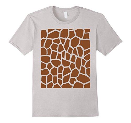 [Mens Giraffe Print - Easy Halloween Costume Idea - Tee Shirt XL Silver] (Easy A Costume Ideas)