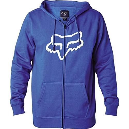 Fox Men's Standard Fit Legacy Logo Zip Hooded Sweatshirt, Blue, - Sweatshirt Fox Youth