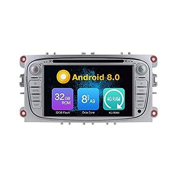 KUNFINE® Octa Core 4 GB Ram Android 8,0 Auto DVD GPS Navegación Multimedia