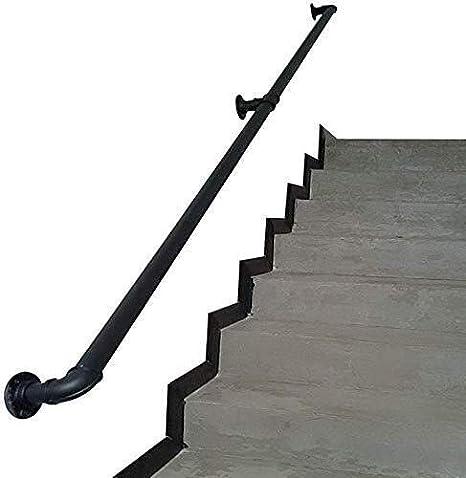 Pasamanos de la escalera Carril de la barandilla for escaleras de interior Black Metal Hierro forjado barandillas for escaleras de niños, ancianos y discapacitados al aire libre barandilla Pasos exter: Amazon.es: Hogar