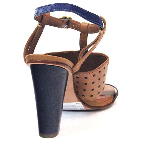 Juicy Couture diseño de tacones de sándalo, estándar del Reino Unido 3,5, de £126 - Nautical navy-caramel