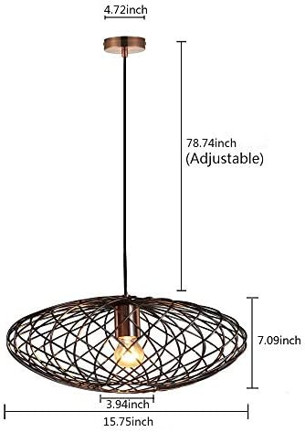 MSTAR Industrial Pendant Lights, Vintage Ceiling Hanging Lighting Fixture for Kitchen Island, Dining Room Chandelier, Pool Table Light Antique Copper