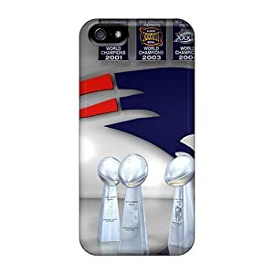 Best Cell-phone Hard Covers For Apple Iphone 5/5s With Support Your Personal Customized Nice New England Patriots Image CASE