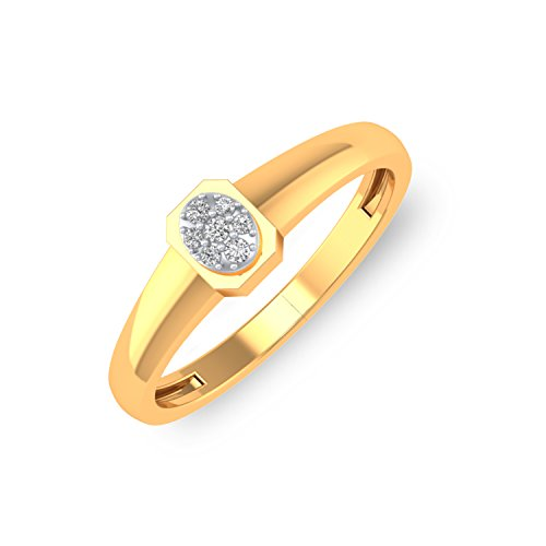 P.N.Gadgil Jewellers 18KT Yellow Gold and Diamond Ring for Men