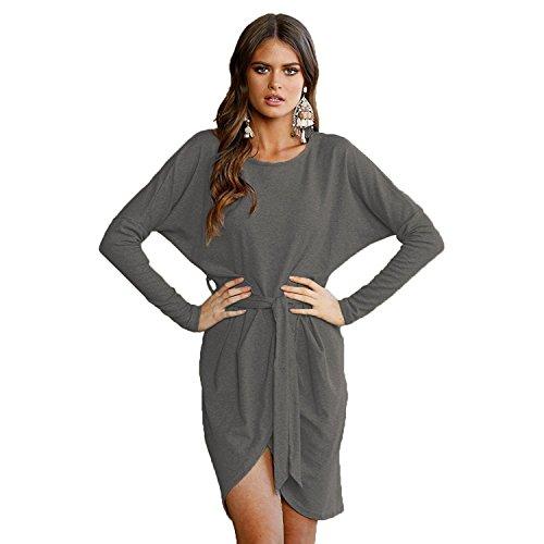 Belt Sweater Dress - 6