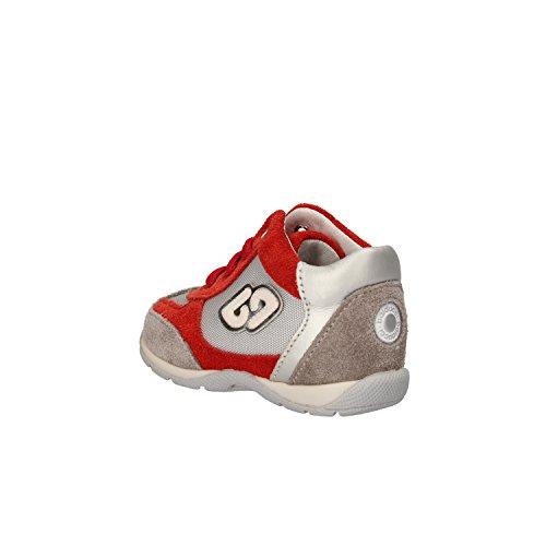 BALDUCCI sneakers chico Azul / gris blanco gamuza Textil cuero rojo/gris