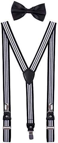 Boys Suspender and Bow Tie Set Adjustable Y Back