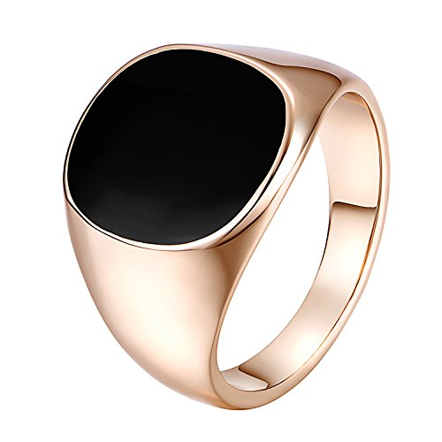 Yoursfs Signet Rings For Men Fashion Gold Plated Jewelry Love Couple Rings for Love Gift -