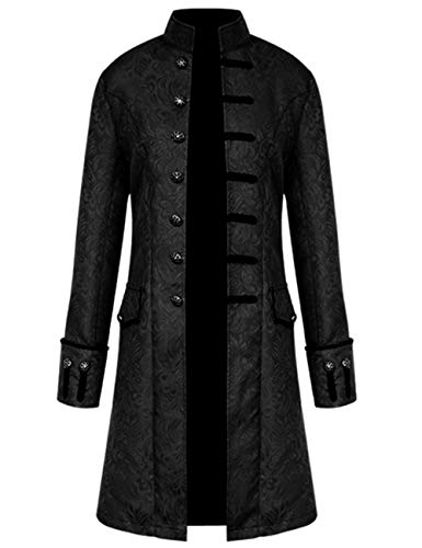 Mens Vintage Tailcoat Jacket Steampunk Victorian Uniforms