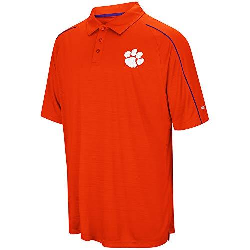- Colosseum NCAA Men's Setter Short Sleeve Coach's Polo Shirt, X-Large Clemson University Tigers