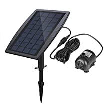 2.5W Solar Panels Power Water Pump Watering Submersible Pump Waterfalls for Garden Small Ponds Decoration Birdbath Fountain - 200L/H - H-Max 60cm - 3 Nozzles
