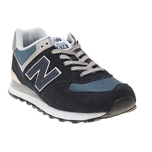 New Balance Men's Iconic 574 Sneaker, Dark Navy/marred Blue, 8.5 D US