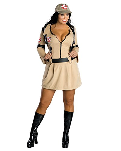 Sexy Ghostbusters Costumes (Sexy Plus Size Theatre Costumes Ghost Busters Movie Costumes Tan Dress Sizes: One Size)