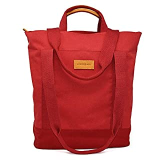 Amber & Ash Convertible Tote – Lightweight - Durable - Travel Friendly - Red