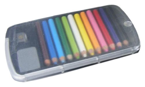 BC USA Japanese Mini Colored Pencils in Case with Eraser and Sharpener by BC USA