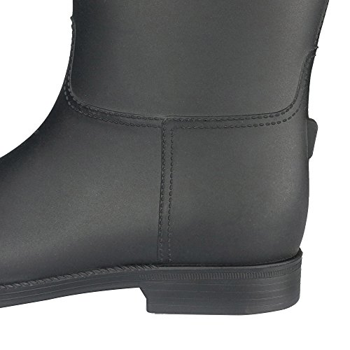 RAHATA Ultralight Rain Boots For Women With Storage Bag Carabiner Black 0hGYR0NCRN
