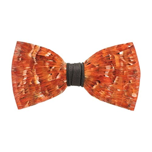 Brackish Archibald Pheasant Feather Mens Bow Tie (BRK-191) by Brackish