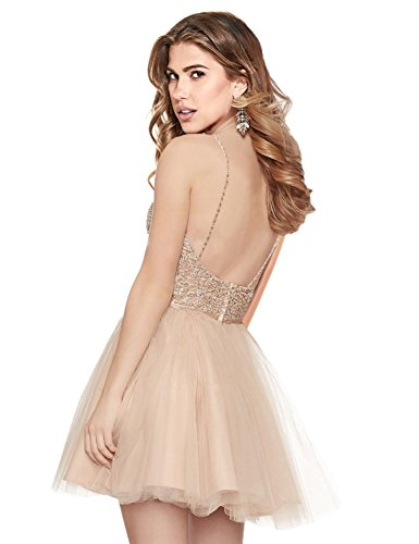 Dreambridal Prom Dresses Spaghetti ON004 Neck Tulle Women's Beading V Strap Champagne Homecoming Deep A8Avxr