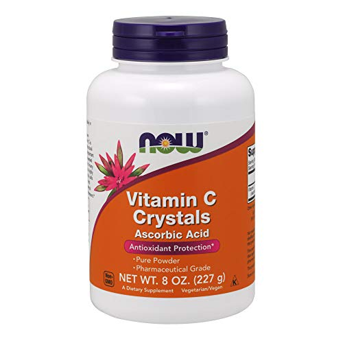 NOW Vitamin C Crystals Ascorbic Acid 100% Pure Powder, 8 Ounces