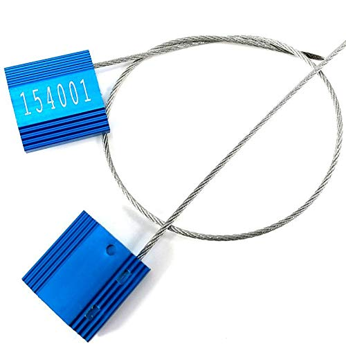 Pull Tight Security Cable Seal Galvanized Steel Container Anti Tamper Shipping Tag