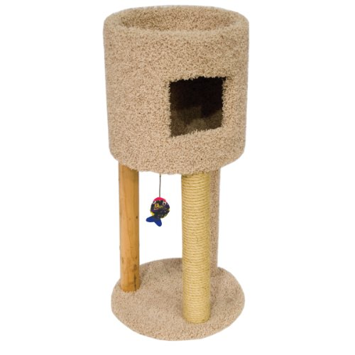 Ware Manufacturing Kitty Condo Scratch Hideout with Playground, My Pet Supplies