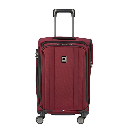 DELSEY Paris Titanium Soft Expandable 21 Inch Spinner, Black Cherry - Cherry Inch 21