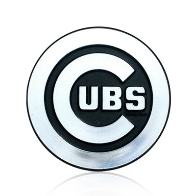 863bb79cc76 Image Unavailable. Image not available for. Color  MLB Chicago Cubs Chrome  Car Emblem