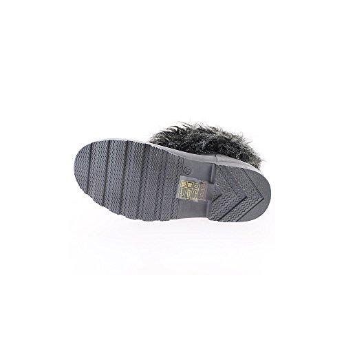 Stiefel Frauen braun gefüllte Dicke 2,5 cm Fuß Gummiabsatz
