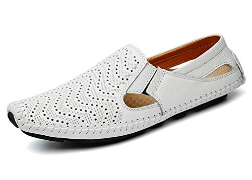 (Noblespirit Men's Driving Shoes Leather Fashion Slipper Casual Slip On Loafers Shoes)