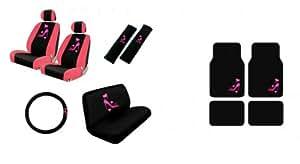 lady high heel shoe w triple pink hearts auto accessories interior car truck suv. Black Bedroom Furniture Sets. Home Design Ideas