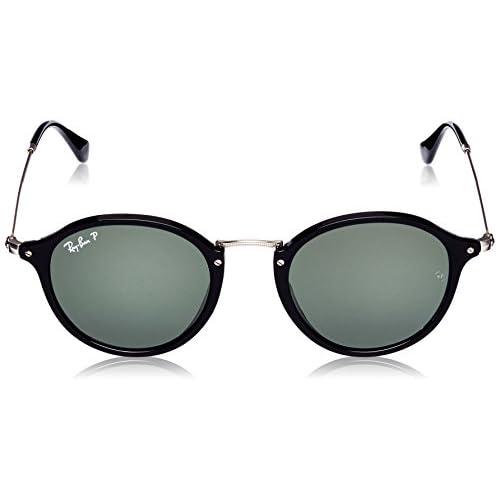ada2af4c3d Ray-Ban Puente de metal gafas de sol redondas en verde negro polarizados  RB2447 901