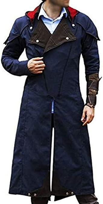 Assassin S Creed Unity Arno Victor Dorian Denim Cloak Cosplay Coat Hoodie Attached Assassins Creed Coat Amazon Co Uk Clothing
