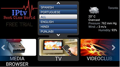 IPTV Subscription Worldwide All Channels on Android Box Mag Box Cell Phone & Laptop USA, UK, Spanish, Indian, Arabic, South American, Brazil Chines 4000 Plus Channels (Best Android Stb Emulator)