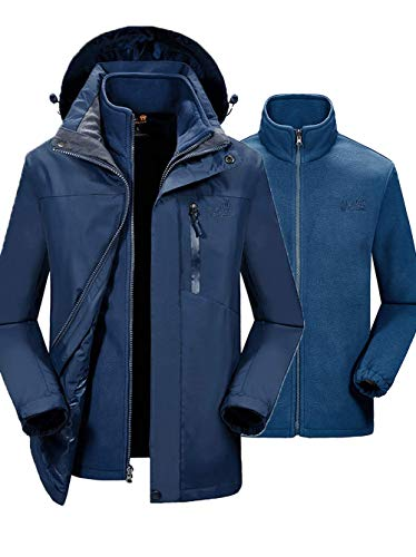 82136d0b13 SEFON Couple 3in1 Mountain Camping Jacket Waterproof Windproof Outerwear  Removable Hooded Outdoor Coat