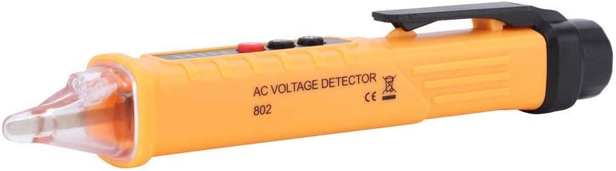802 High Electric Voltage Detector Tester Pen 48-1000V//12-1000V Yellow Maxmartt Accuracy Test Pencil