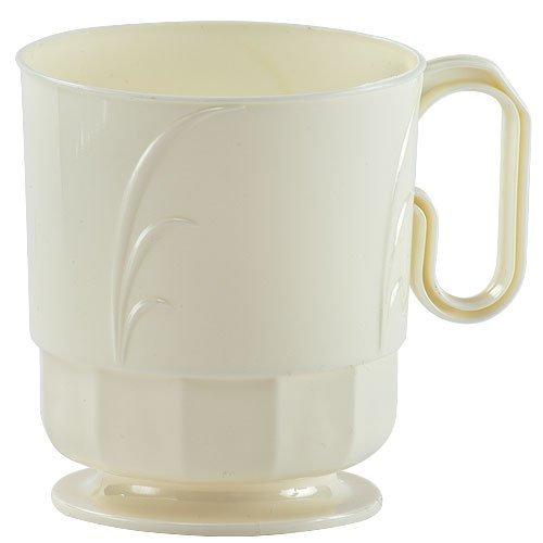 Hanna K. Signature Collection 40 Count Elegance Plastic Coffee Mug, 8-Ounce, Ivory (Ivory Coffee Mug)